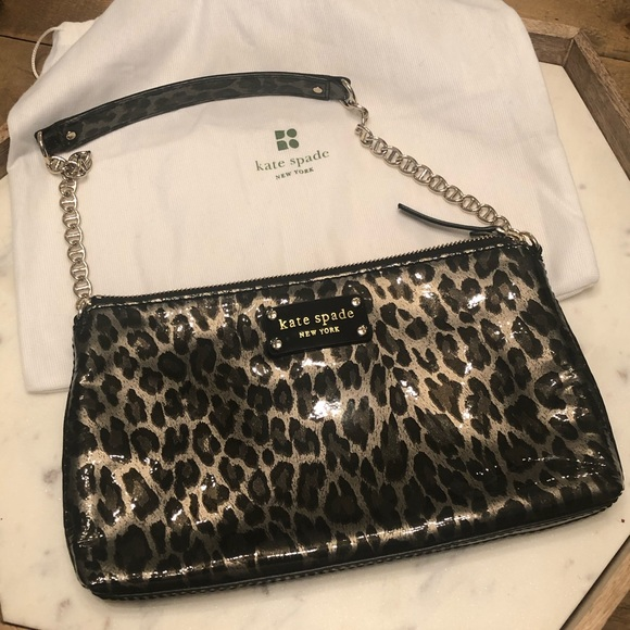kate spade Handbags - Kate Spade Handbag Purse Shoulder Leopard Print